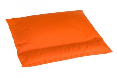 Oranžinė grikių lukštų pagalvė